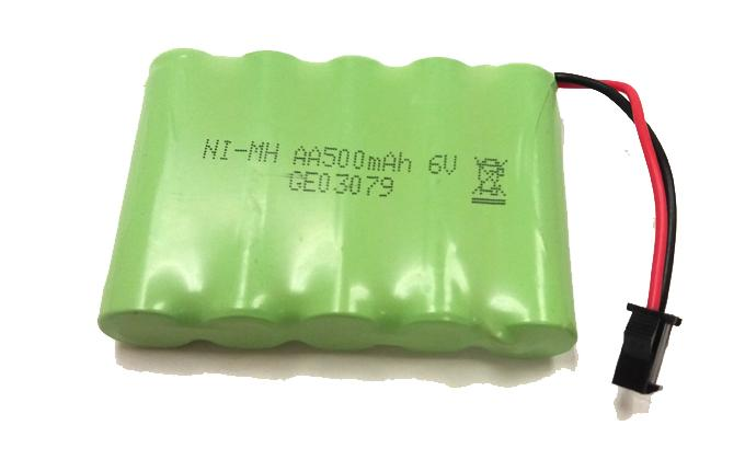 NI-MH BATTERY 6V 500MAH (SUPER GT)