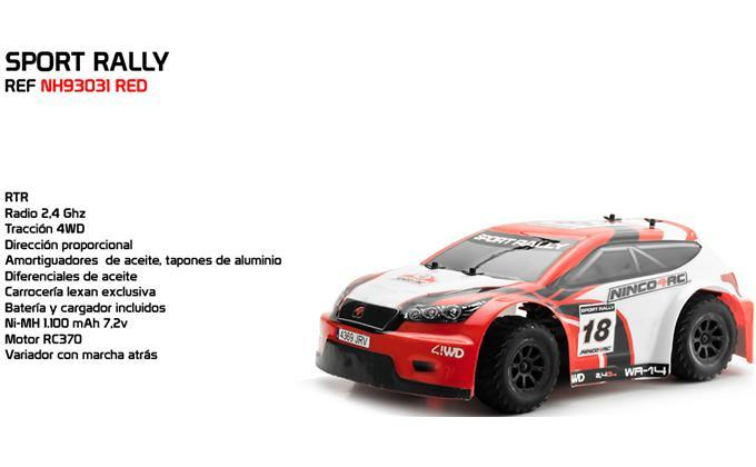 1/14 SPORT RALLY RED 2.4G RTR